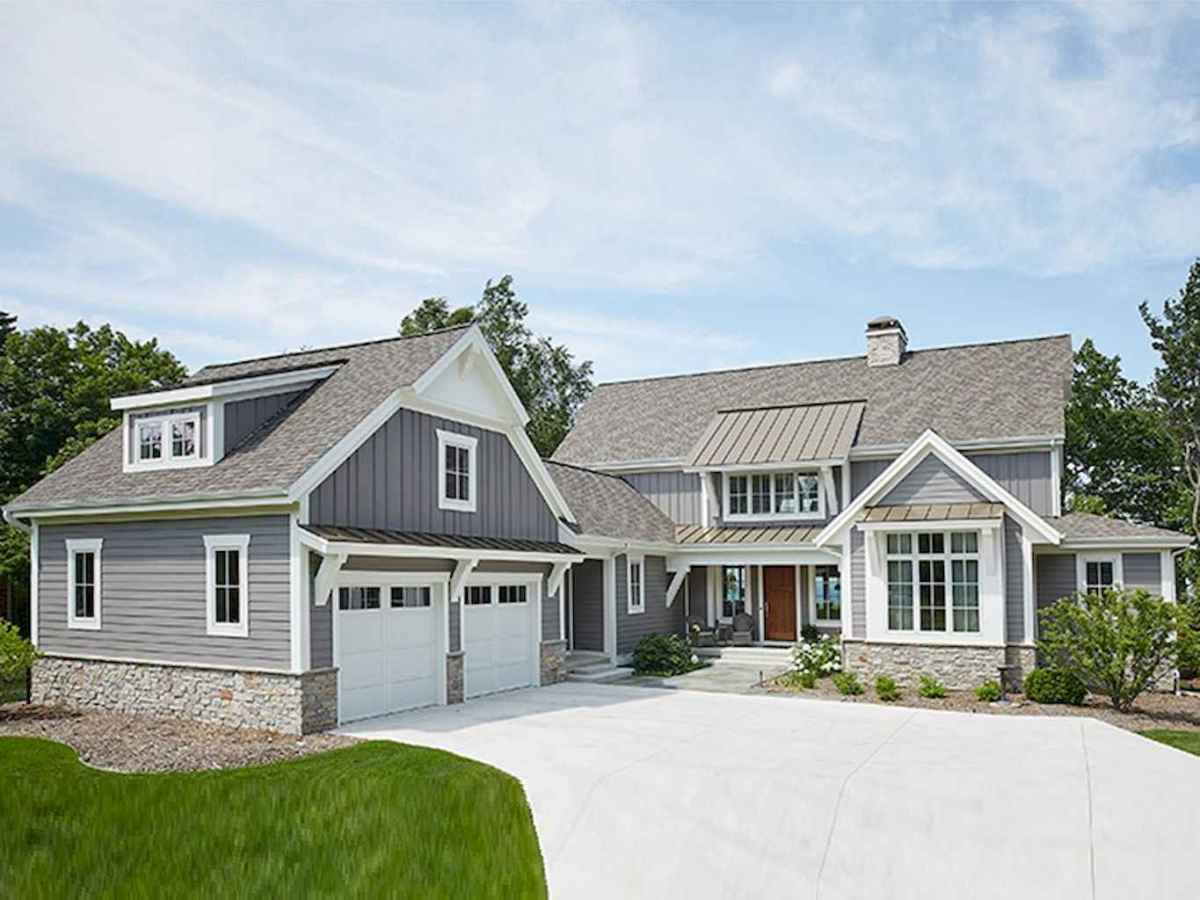 90 incredible modern farmhouse exterior design ideas (39 ... - photo#15