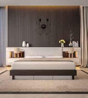 90 stunning modern master bedroom decor ideas (23)