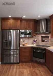100 best oak kitchen cabinets ideas decoration for farmhouse style (26)