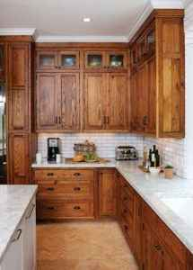 100 best oak kitchen cabinets ideas decoration for farmhouse style (60)
