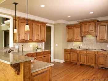 100 best oak kitchen cabinets ideas decoration for farmhouse style (93)