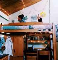 100+ cute loft beds college dorm room design ideas for girl (37)