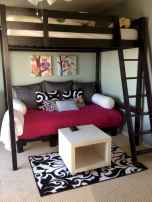 100+ cute loft beds college dorm room design ideas for girl (50)