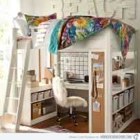 100+ cute loft beds college dorm room design ideas for girl (51)