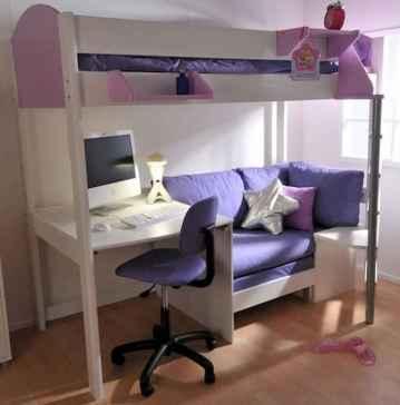 100+ cute loft beds college dorm room design ideas for girl (71)