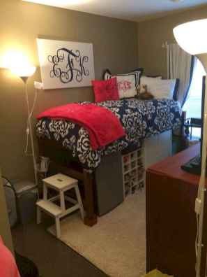 100+ cute loft beds college dorm room design ideas for girl (75)