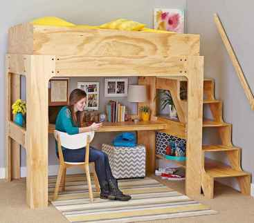100+ cute loft beds college dorm room design ideas for girl (77)