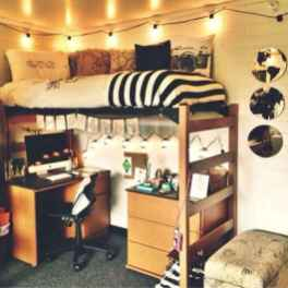 100+ cute loft beds college dorm room design ideas for girl (8)