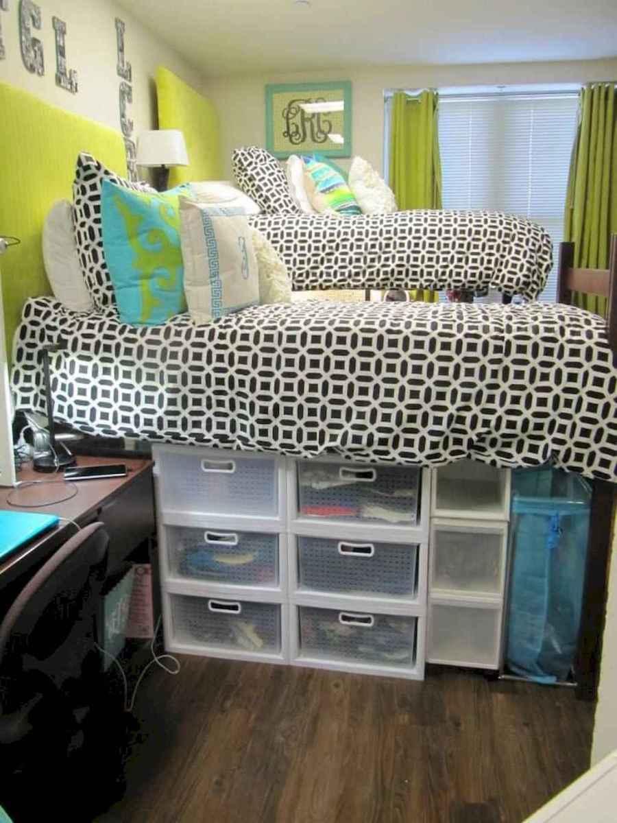 100+ cute loft beds college dorm room design ideas for girl (93)