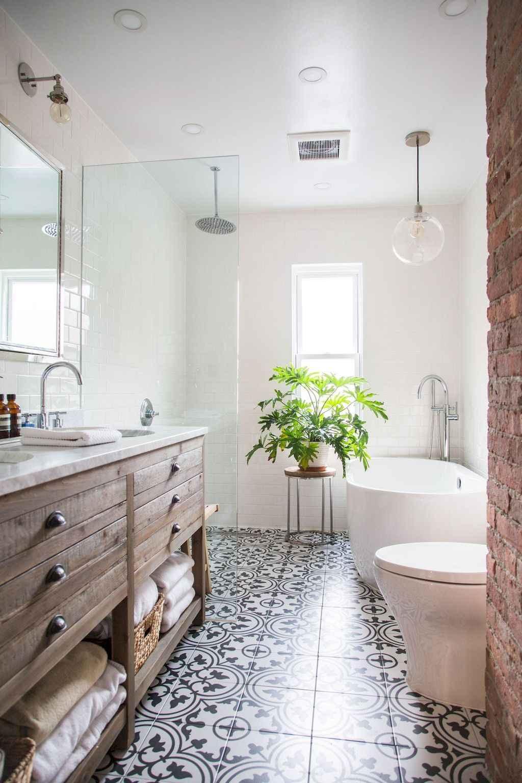 best farmhouse bathroom tile remodel ideas with