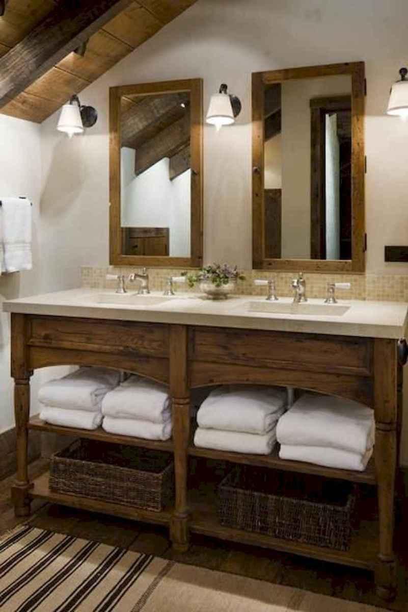 50 best farmhouse bathroom vanity remodel ideas (51)