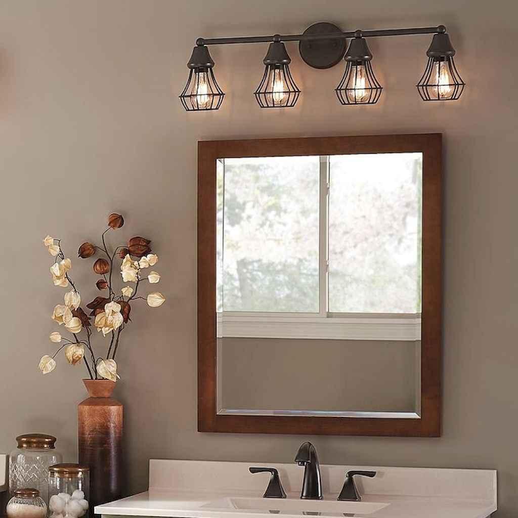 50 best farmhouse bathroom vanity remodel ideas (85)
