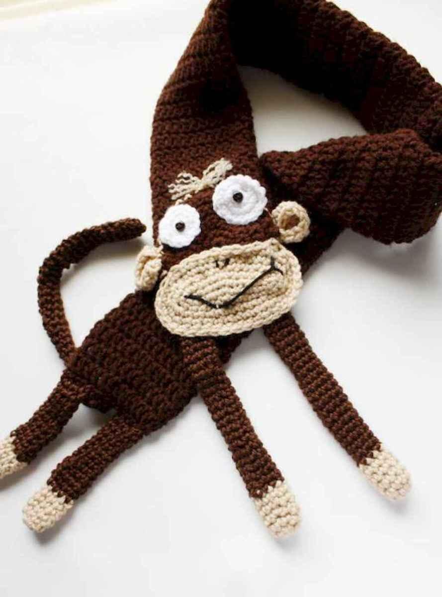 50 easy diy crochet animal scarf ideas for beginner (17)