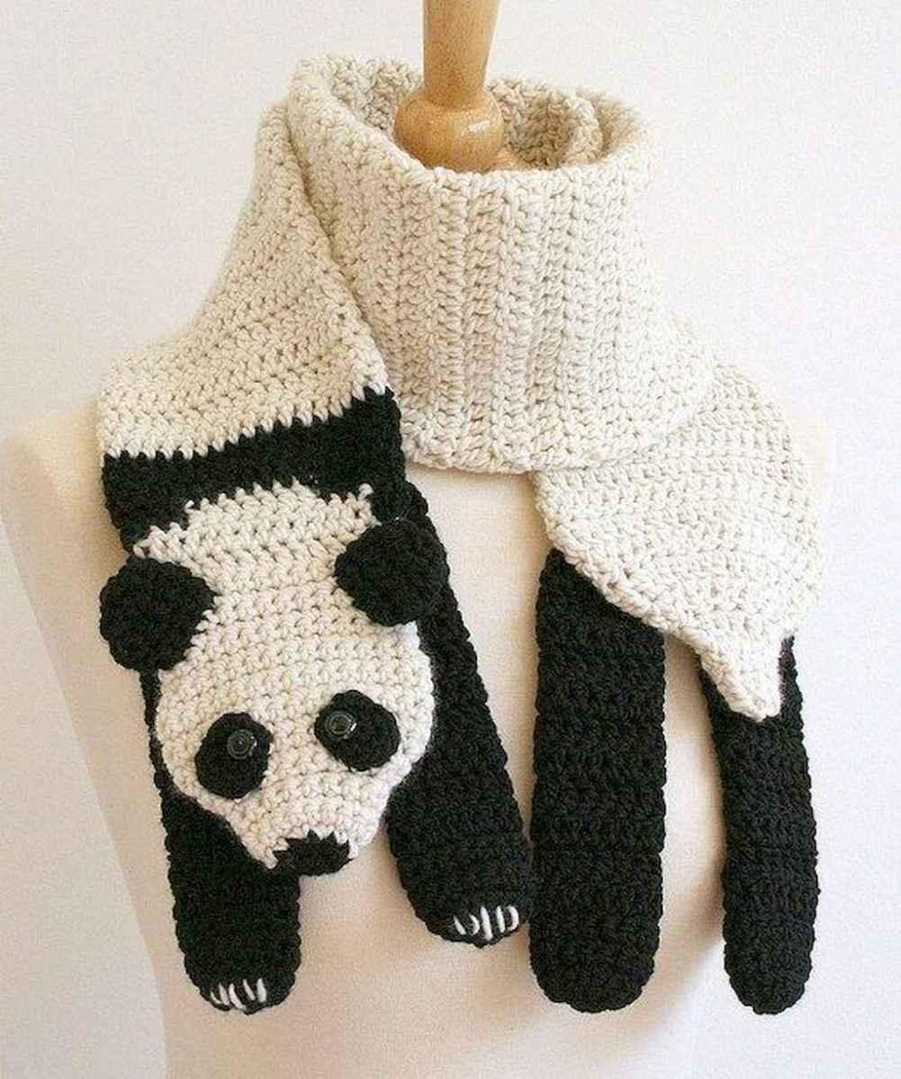 50 easy diy crochet animal scarf ideas for beginner (2)