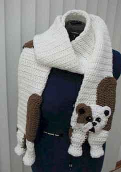 50 easy diy crochet animal scarf ideas for beginner (31)