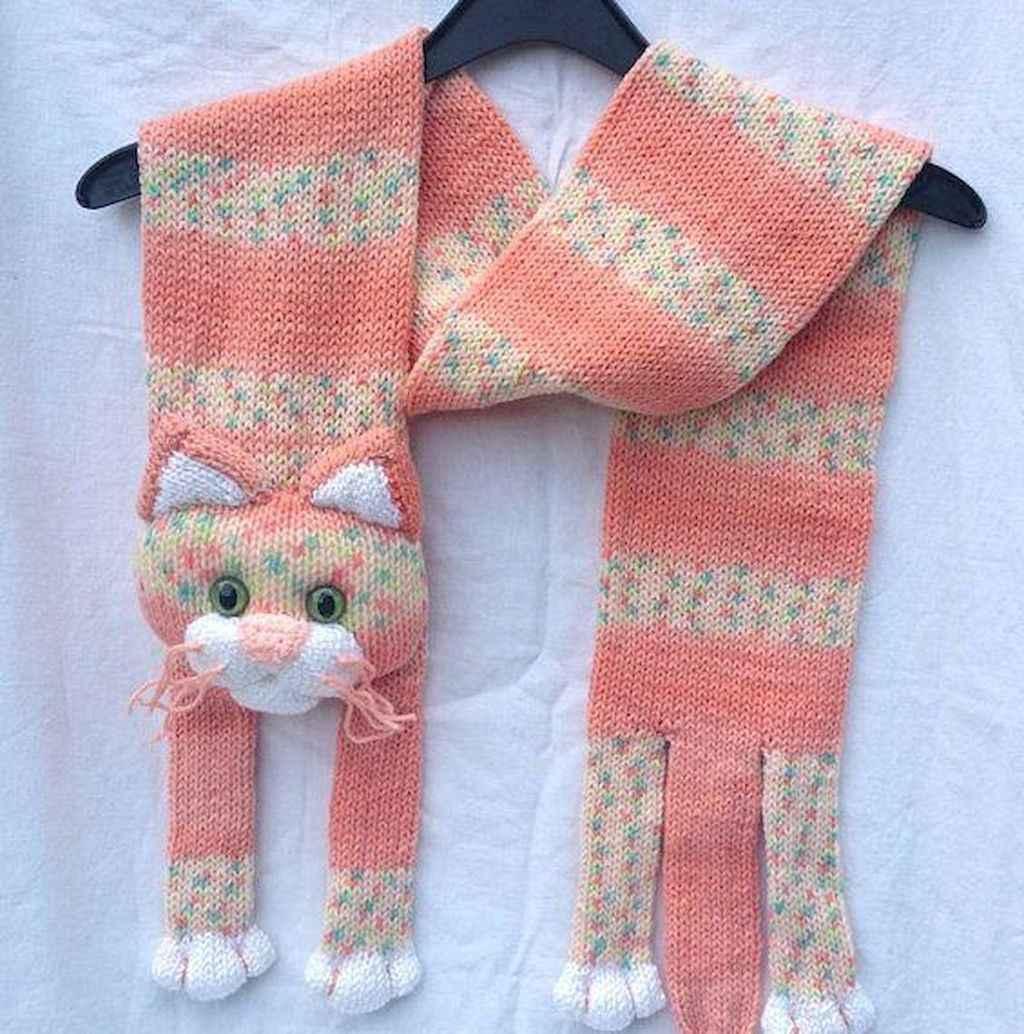 50 easy diy crochet animal scarf ideas for beginner (38)