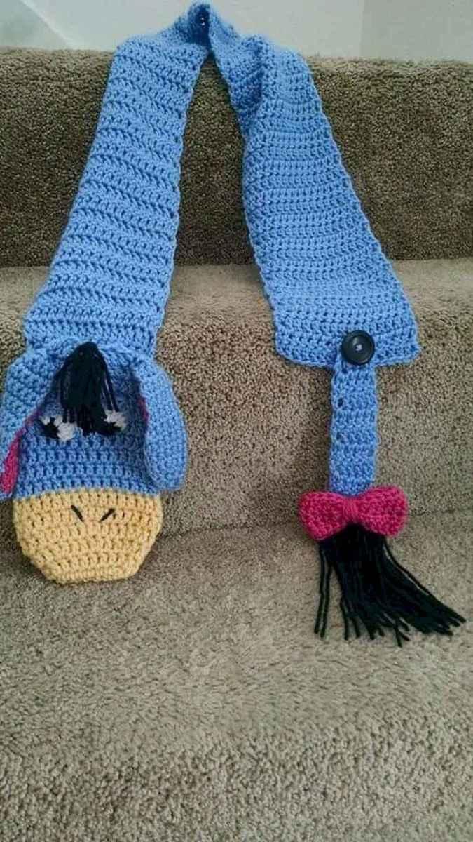 50 easy diy crochet animal scarf ideas for beginner (40)