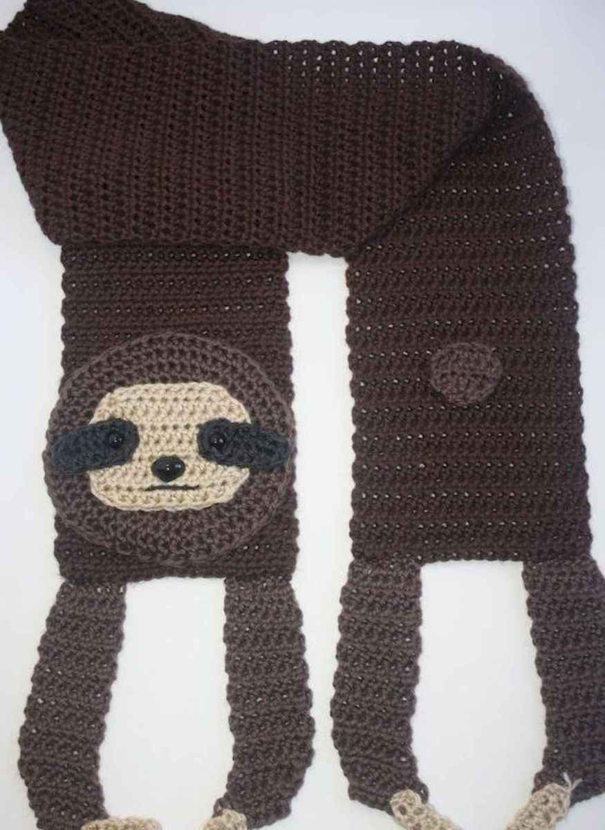 50 easy diy crochet animal scarf ideas for beginner (43)