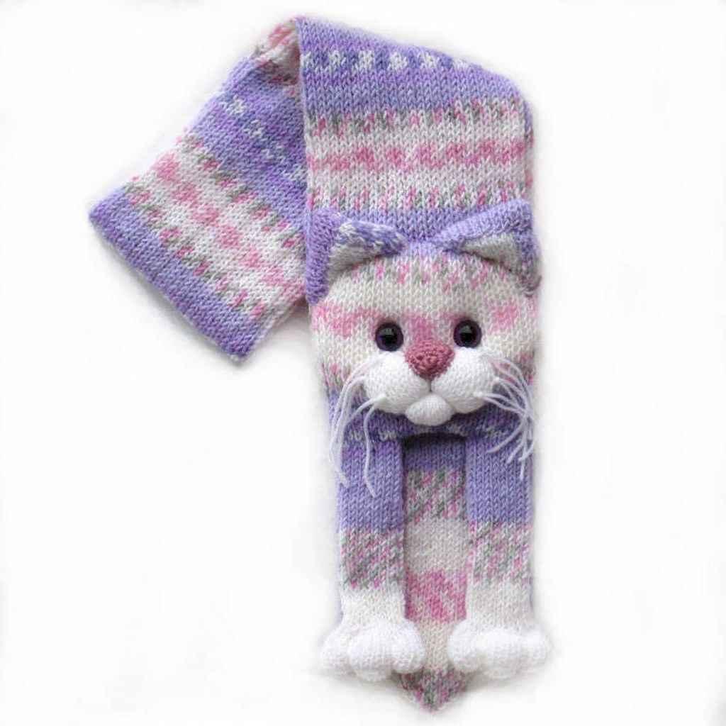 50 easy diy crochet animal scarf ideas for beginner (45)