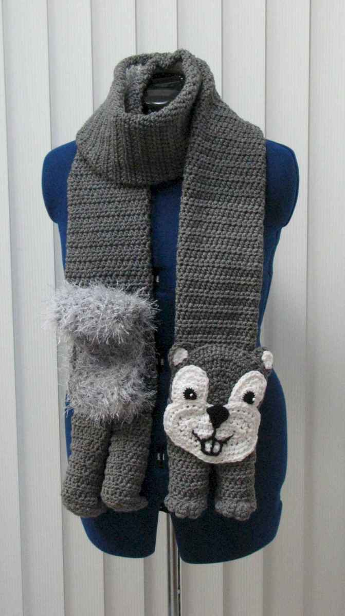 50 easy diy crochet animal scarf ideas for beginner (48)