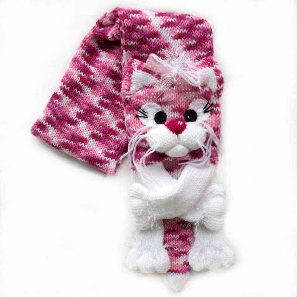 50 easy diy crochet animal scarf ideas for beginner (9)
