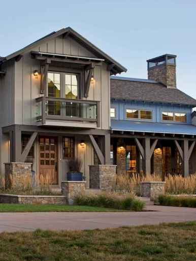 60 rustic farmhouse exterior decor ideas (17)