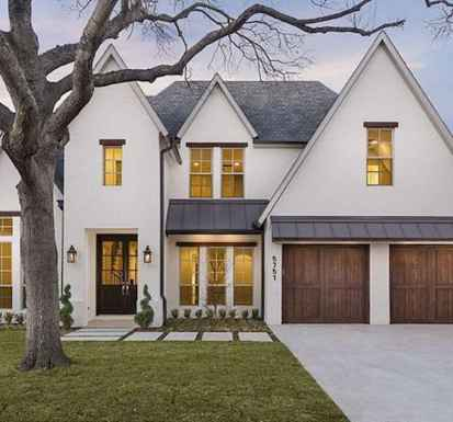 60 rustic farmhouse exterior decor ideas (42)