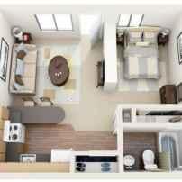 65 best studio apartment decorating ideas (54)