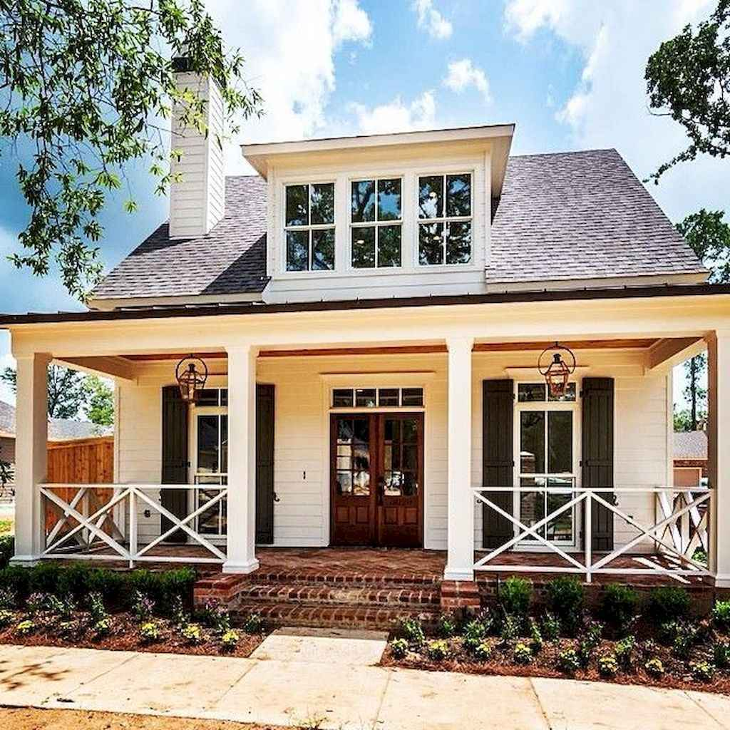 65 stunning farmhouse porch railing decor ideas (21)