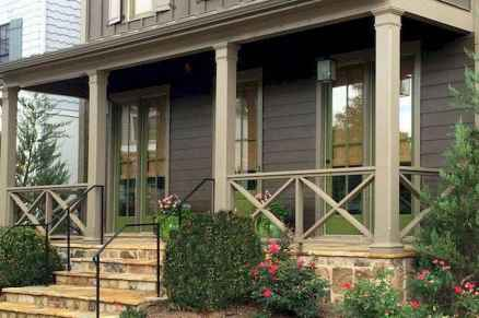 65 stunning farmhouse porch railing decor ideas (37)