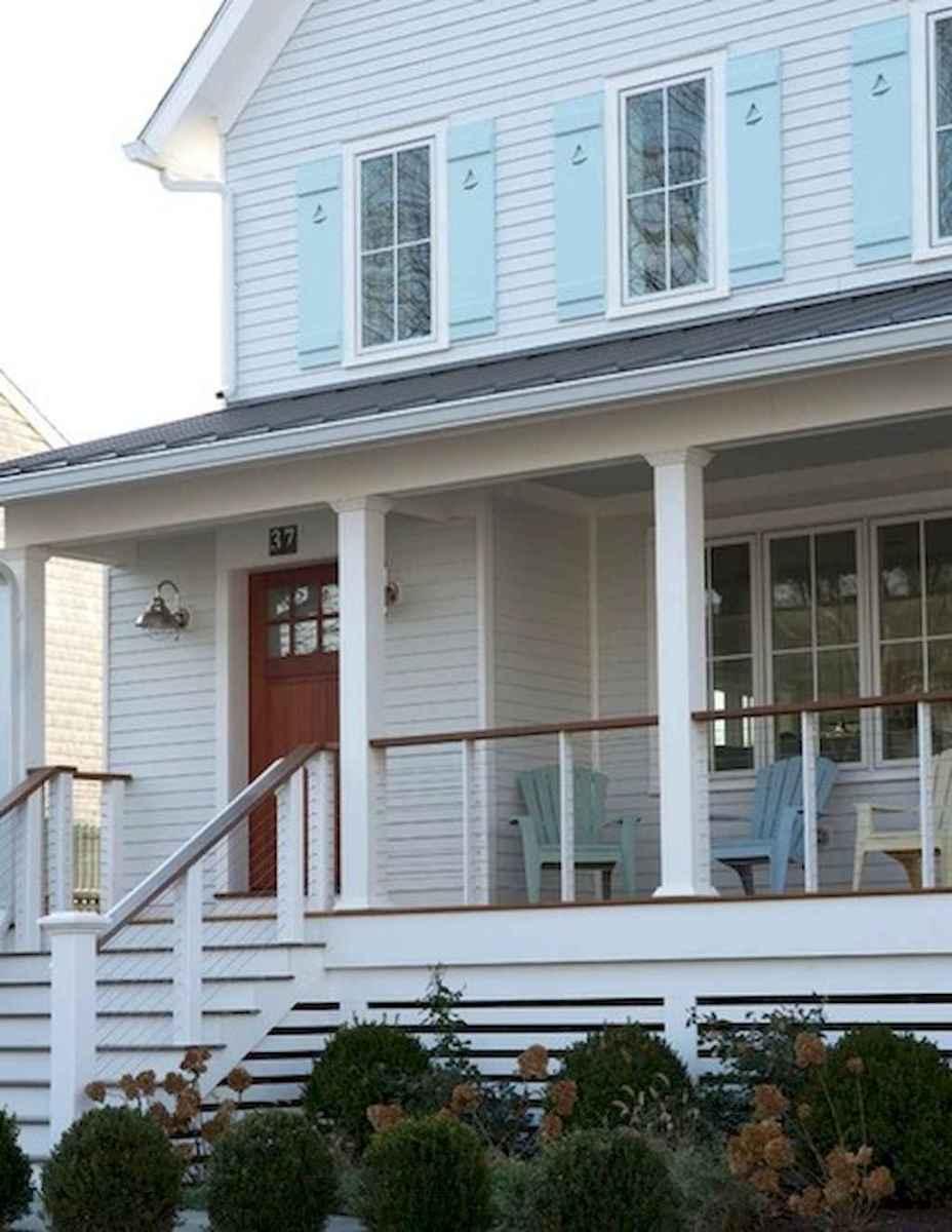 65 stunning farmhouse porch railing decor ideas (44)