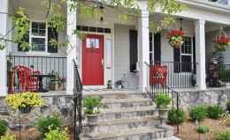 65 stunning farmhouse porch railing decor ideas (59)