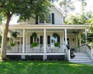 65 stunning farmhouse porch railing decor ideas (6)