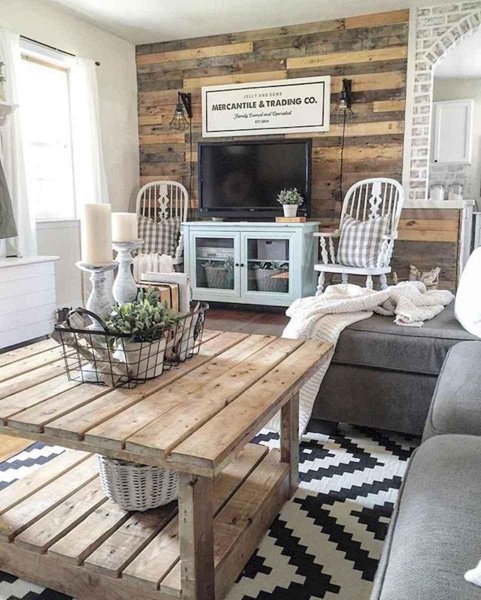 66 best farmhouse living room remodel ideas (46)