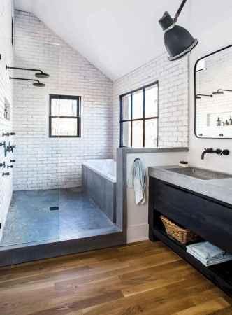 80 best farmhouse tile shower ideas remodel (58)