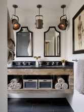 90 best lamp for farmhouse bathroom lighting ideas (29)