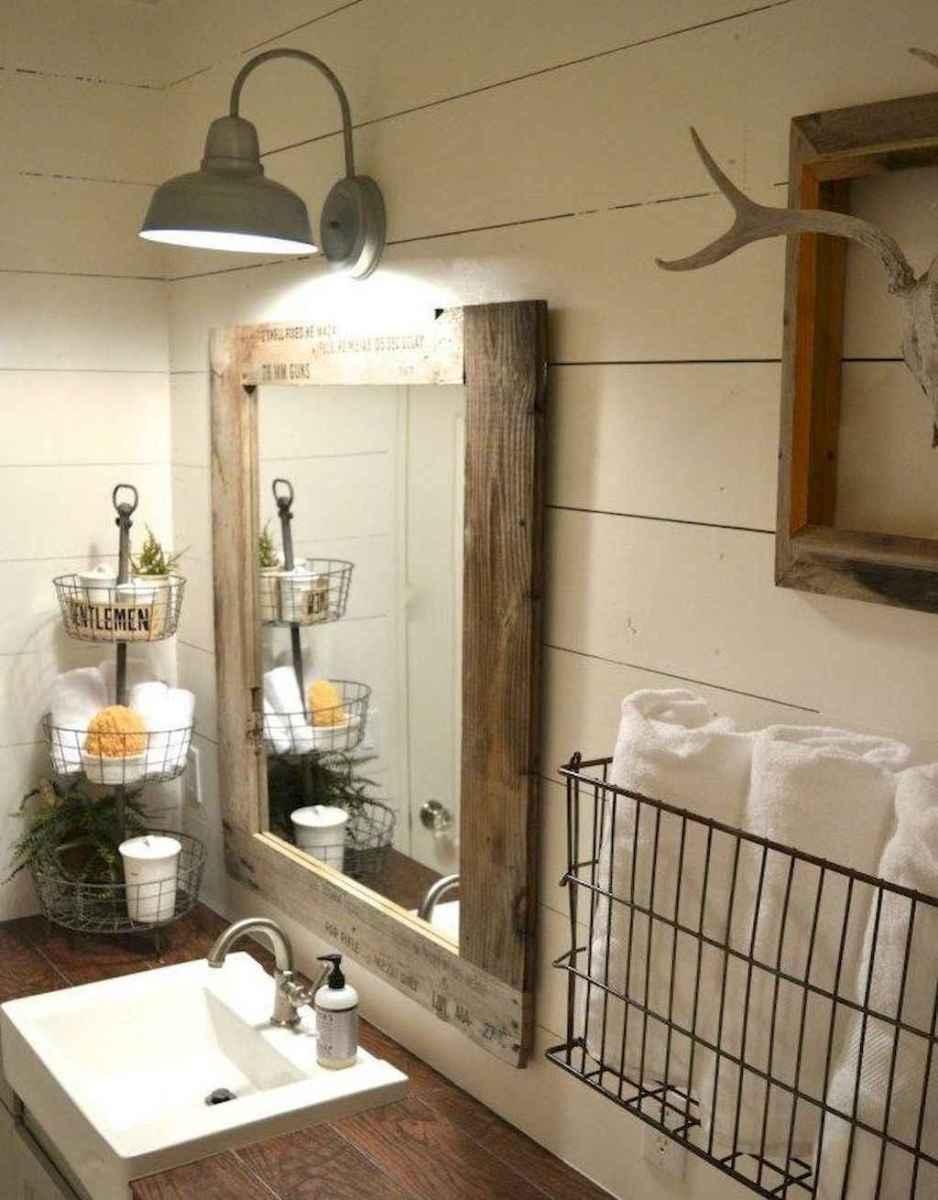 90 best lamp for farmhouse bathroom lighting ideas (41)