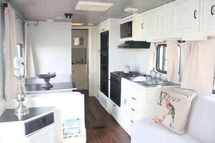 90 modern rv remodel travel trailers ideas (86)