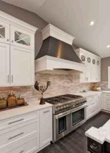 Best 100 white kitchen cabinets decor ideas for farmhouse style design (100)