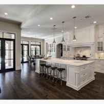 Best 100 white kitchen cabinets decor ideas for farmhouse style design (21)