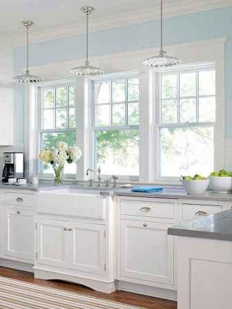 Best 100 white kitchen cabinets decor ideas for farmhouse style design (45)