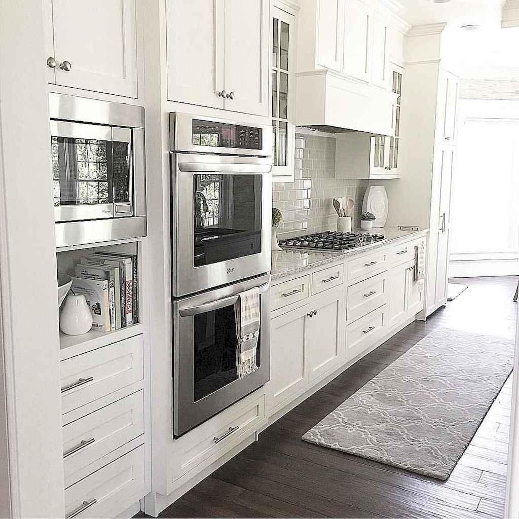 White Kitchen Cabinets 2018: Best 100 White Kitchen Cabinets Decor Ideas For Farmhouse