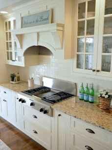 Best 100 white kitchen cabinets decor ideas for farmhouse style design (64)