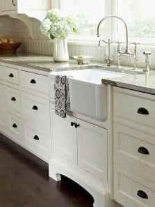 Best 100 white kitchen cabinets decor ideas for farmhouse style design (72)