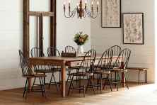 100 best farmhouse dining room decor ideas (201)