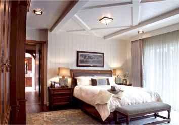 100 elegant farmhouse master bedroom decor ideas (35)