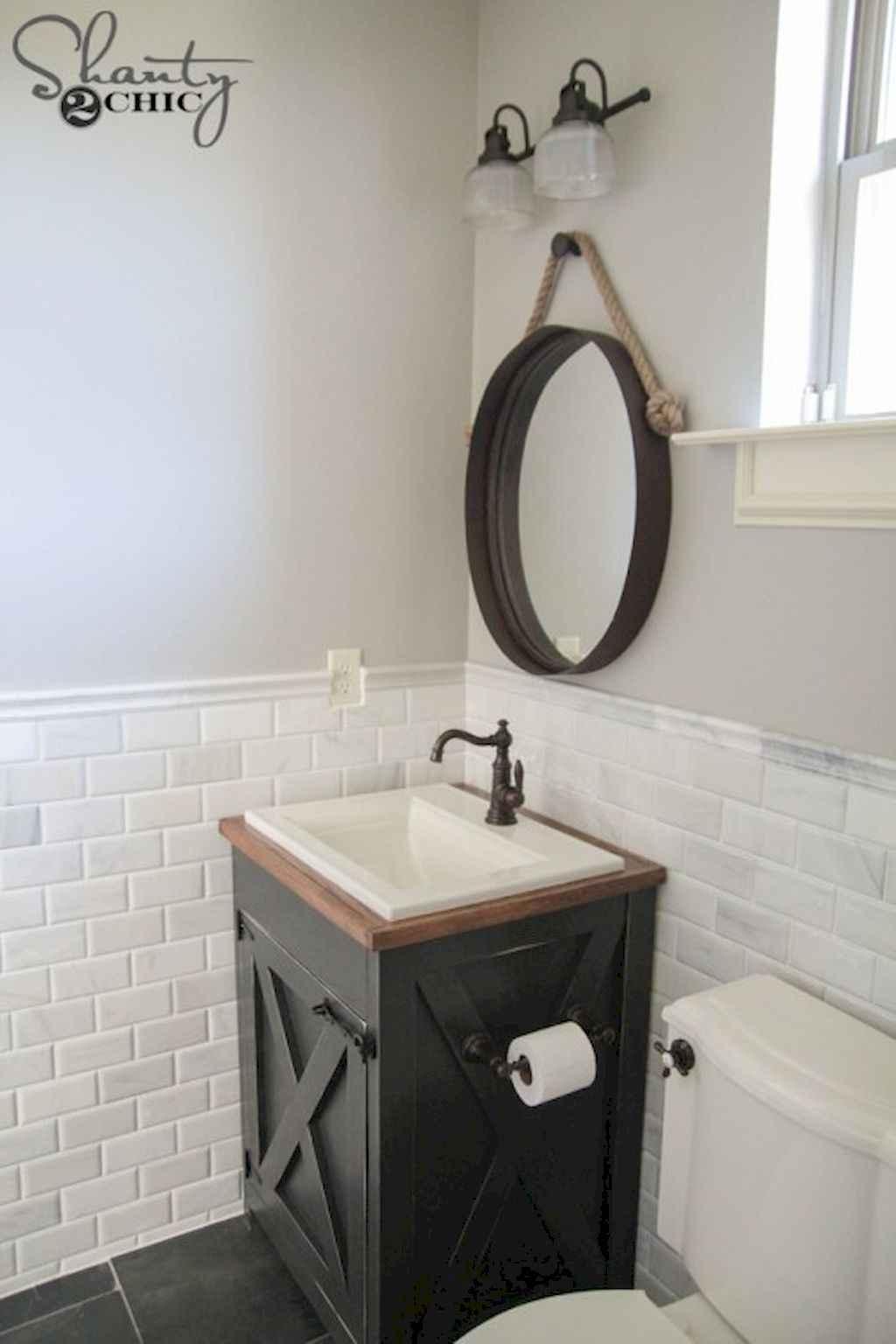 110 best farmhouse bathroom decor ideas (53)
