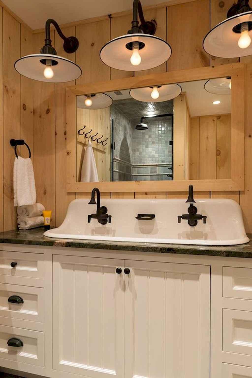 110 best farmhouse bathroom decor ideas (63)