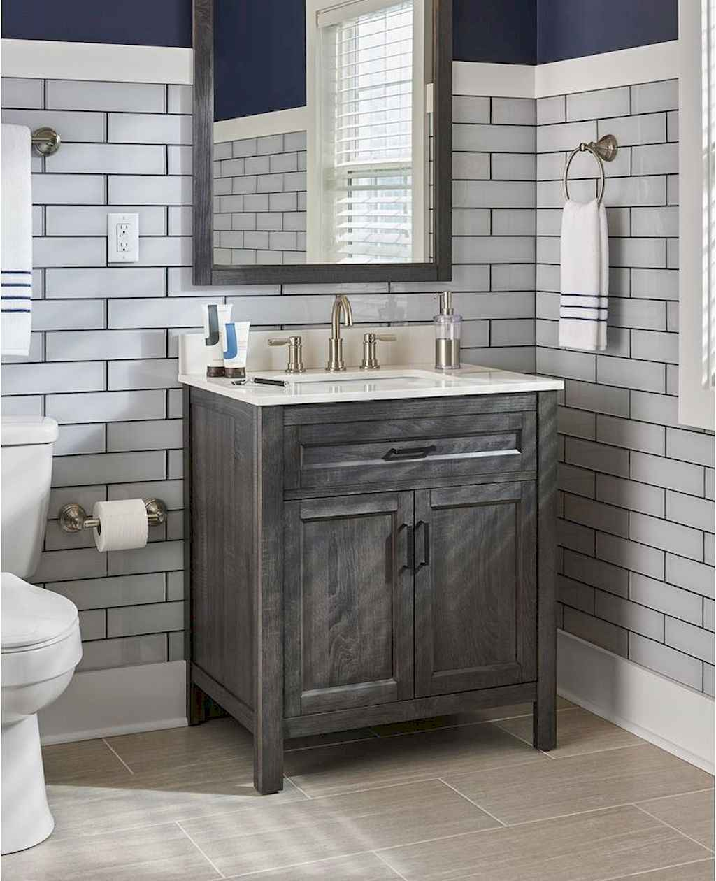 110 best farmhouse bathroom decor ideas (54)