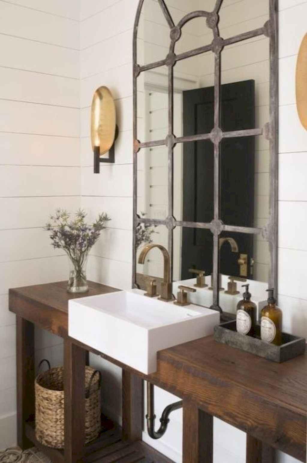 125 awesome farmhouse bathroom vanity remodel ideas (116)